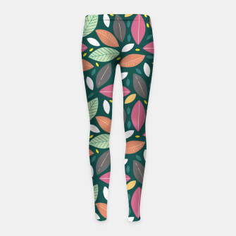 Thumbnail image of Leaves pattern Leggings para niña, Live Heroes