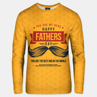 Miniatur Father's Day, My Daddy is my SuperHero Unisex sweater, Live Heroes