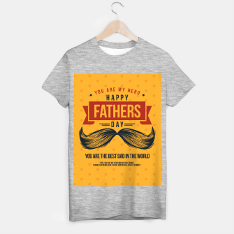 Miniatur Father's Day, My Daddy is my SuperHero T-shirt regular, Live Heroes