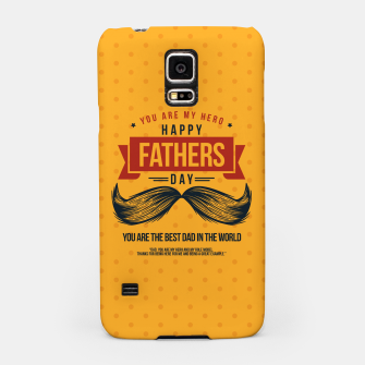Miniatur Father's Day, My Daddy is my SuperHero Samsung Case, Live Heroes