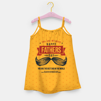 Miniatur Father's Day, My Daddy is my SuperHero Girl's dress, Live Heroes