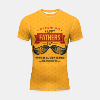 Thumbnail image of Father's Day, My Daddy is my SuperHero Shortsleeve rashguard, Live Heroes