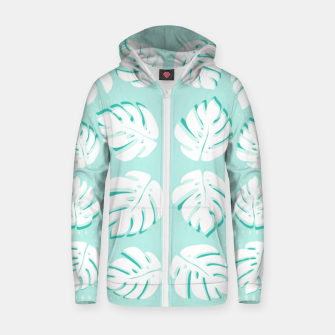 Thumbnail image of Tropical patterns Zip up hoodie, Live Heroes
