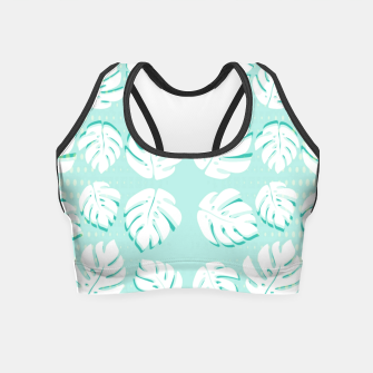 Thumbnail image of Tropical patterns Crop Top, Live Heroes