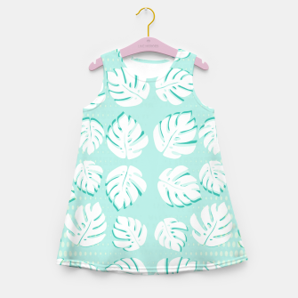 Thumbnail image of Tropical patterns Girl's summer dress, Live Heroes