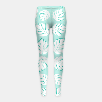 Thumbnail image of Tropical patterns Girl's leggings, Live Heroes