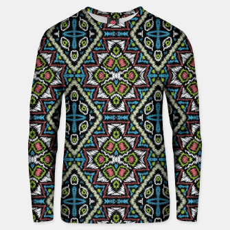 Miniatur Seamless embroidery tribal ethno boho ornamental pattern background Unisex sweater, Live Heroes