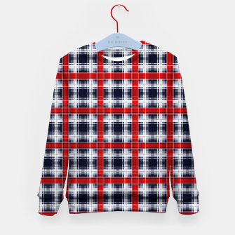 Thumbnail image of Seamless checkered plaid pattern tartan background Kid's sweater, Live Heroes