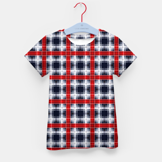Thumbnail image of Seamless checkered plaid pattern tartan background Kid's t-shirt, Live Heroes