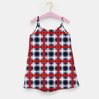 Thumbnail image of Seamless checkered plaid pattern tartan background Girl's dress, Live Heroes