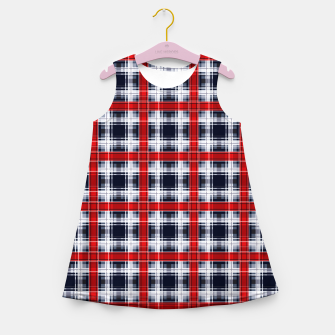 Thumbnail image of Seamless checkered plaid pattern tartan background Girl's summer dress, Live Heroes
