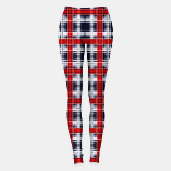 Thumbnail image of Seamless checkered plaid pattern tartan background Leggings, Live Heroes