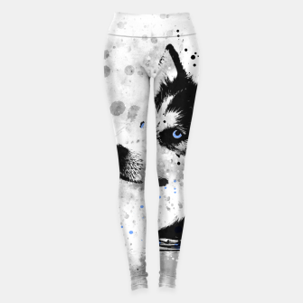 Thumbnail image of Husky Portrait Leggings, Live Heroes