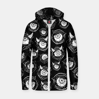 Thumbnail image of Evil Eyes Zip up hoodie, Live Heroes