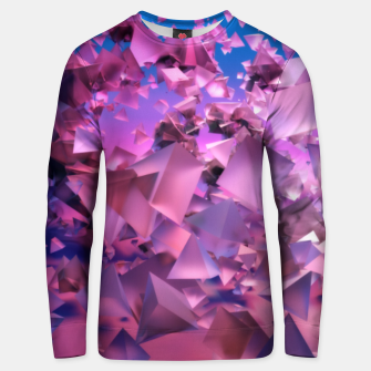 Miniatur Pink Flying Triangles Unisex sweater, Live Heroes