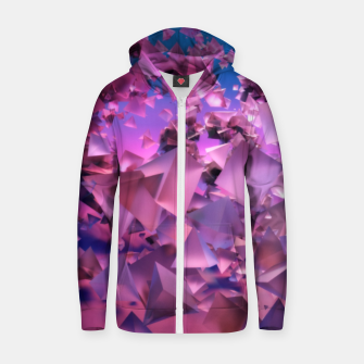 Thumbnail image of Pink Flying Triangles Zip up hoodie, Live Heroes