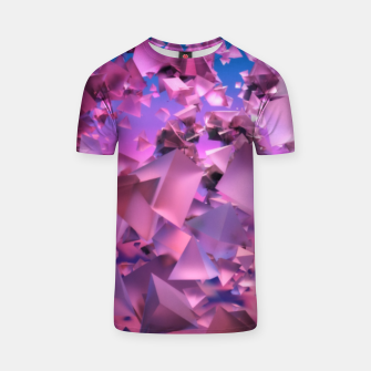 Miniatur Pink Flying Triangles T-shirt, Live Heroes