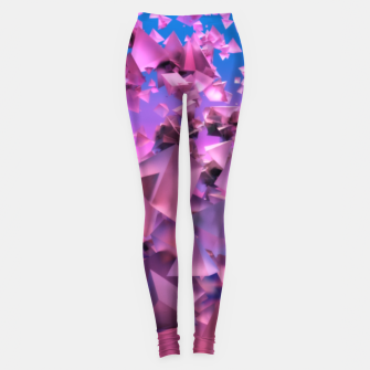 Thumbnail image of Pink Flying Triangles Leggings, Live Heroes