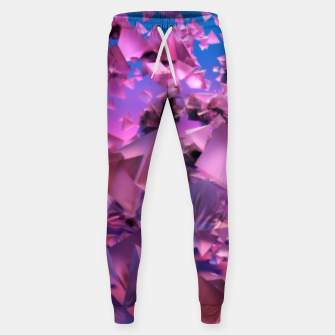 Thumbnail image of Pink Flying Triangles Sweatpants, Live Heroes