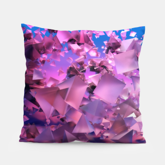 Miniatur Pink Flying Triangles Pillow, Live Heroes