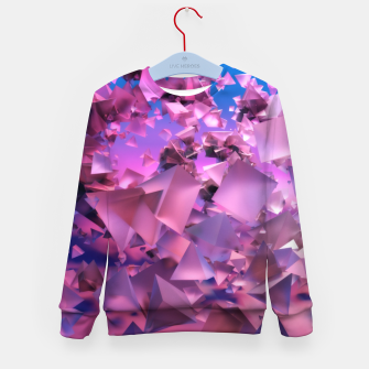 Miniatur Pink Flying Triangles Kid's sweater, Live Heroes