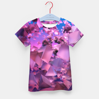 Thumbnail image of Pink Flying Triangles Kid's t-shirt, Live Heroes