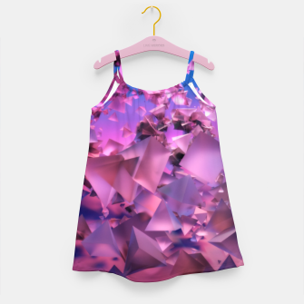 Miniatur Pink Flying Triangles Girl's dress, Live Heroes