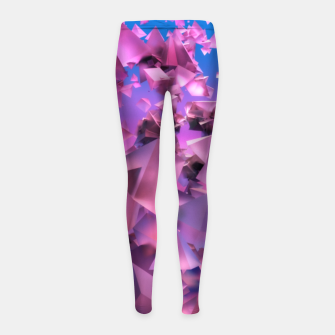Thumbnail image of Pink Flying Triangles Girl's leggings, Live Heroes