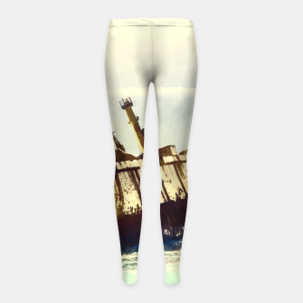 Thumbnail image of shipwreck aqrefn Girl's leggings, Live Heroes