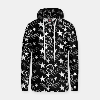 Thumbnail image of stars and moon Hoodie, Live Heroes