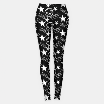 Miniatur stars and moon Leggings, Live Heroes