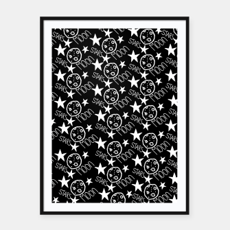 Thumbnail image of stars and moon Framed poster, Live Heroes