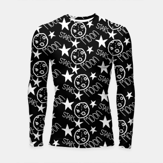 Thumbnail image of stars and moon Longsleeve rashguard , Live Heroes