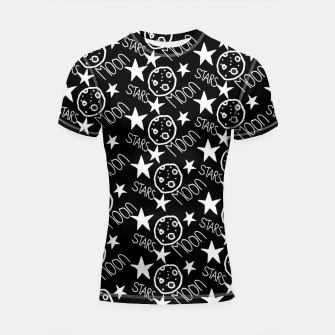 Thumbnail image of stars and moon Shortsleeve rashguard, Live Heroes