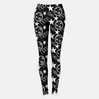 Thumbnail image of stars and moon Leggings, Live Heroes