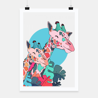 Thumbnail image of The 2 giraffes Poster, Live Heroes