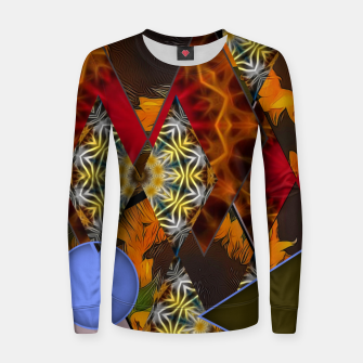 Thumbnail image of Sunflower Collage Women sweater, Live Heroes