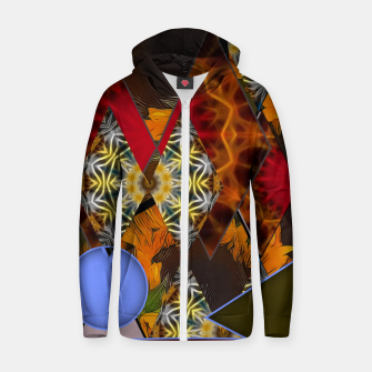 Thumbnail image of Sunflower Collage Zip up hoodie, Live Heroes