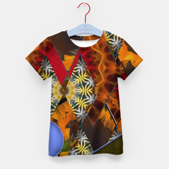 Thumbnail image of Sunflower Collage Kid's t-shirt, Live Heroes