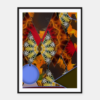 Thumbnail image of Sunflower Collage Framed poster, Live Heroes