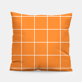 Thumbnail image of Grid on turmeric Pillow, Live Heroes