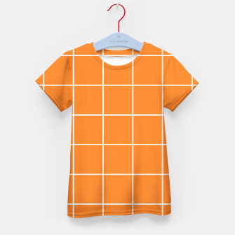 Thumbnail image of Grid on turmeric Kid's t-shirt, Live Heroes