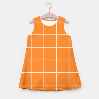 Thumbnail image of Grid on turmeric Girl's summer dress, Live Heroes