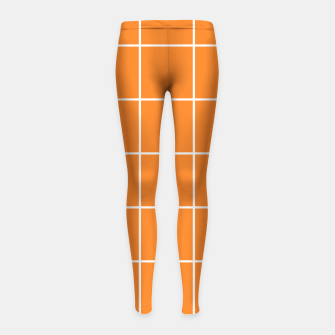 Thumbnail image of Grid on turmeric Girl's leggings, Live Heroes