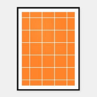 Thumbnail image of Grid on turmeric Framed poster, Live Heroes