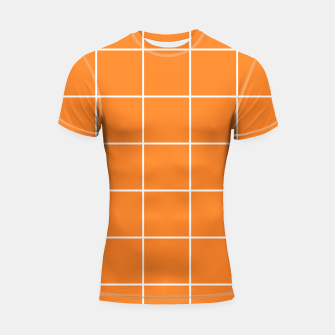 Thumbnail image of Grid on turmeric Shortsleeve rashguard, Live Heroes