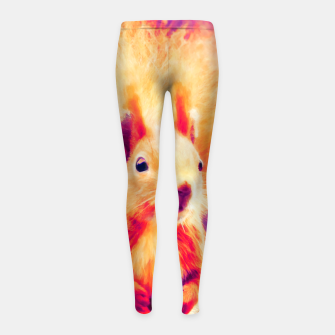 Thumbnail image of squirrel digital oil paint doplsh Girl's leggings, Live Heroes