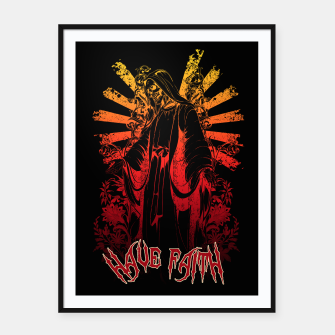 Thumbnail image of KEEPER SKULL Framed poster, Live Heroes