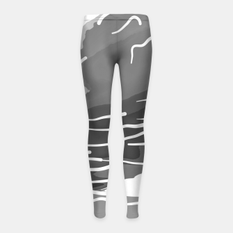 Thumbnail image of abstract style aurora borealis absbwi Girl's leggings, Live Heroes