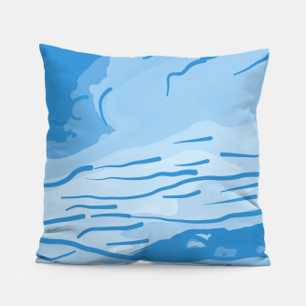 Thumbnail image of abstract style aurora borealis abswb Pillow, Live Heroes